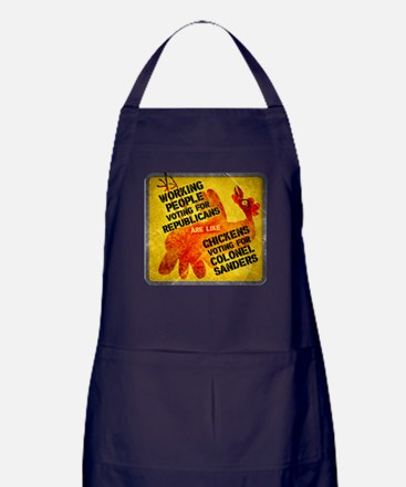 Chickens Voting for Col. Sand Apron (dark)