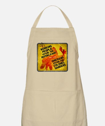 Chickens Voting for Col. Sand Apron