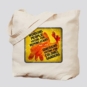 Chickens Voting for Col. Sand Tote Bag