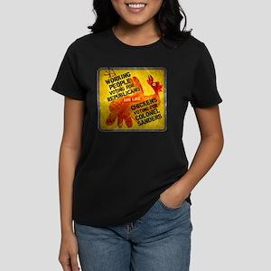Chickens Voting for Col. Sand Women's Dark T-Shirt