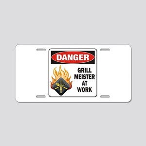 Grill Meister Aluminum License Plate