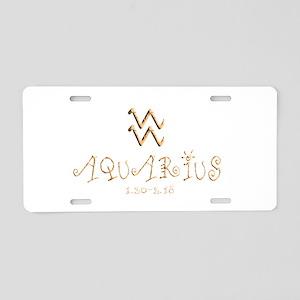Aquarius Aluminum License Plate