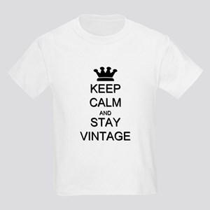 Keep Calm and Stay Vintage Kids Light T-Shirt