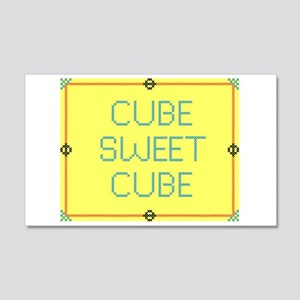 Cubesweetcube 20x12 Wall Decal