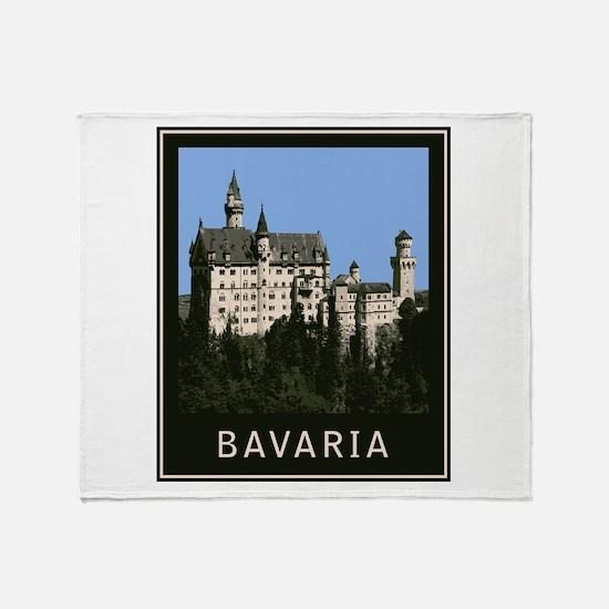 Bavaria Neuschwanstein Throw Blanket