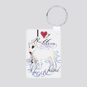 Bull Terrier Aluminum Photo Keychain