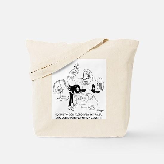 Rhubarb Vs. Rebar Tote Bag