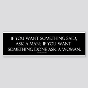 If you want something said as Sticker (Bumper)