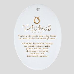 Taurus Ornament (Oval)