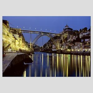 Portugal, Porto, Luis I Bridge, night