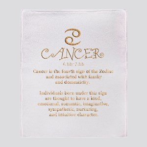 Cancer Throw Blanket