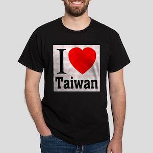 I Love Taiwan Black T-Shirt