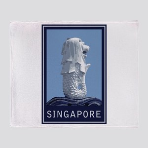 Singapore Merlion Throw Blanket
