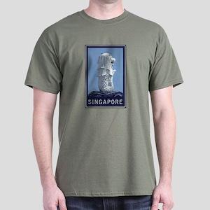 Singapore Merlion Dark T-Shirt