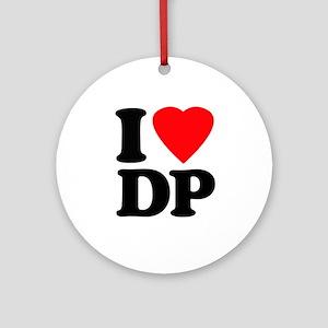 I Love DP Ornament (Round)