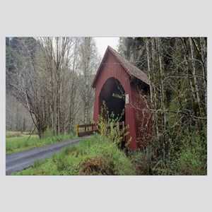 Covered Bridge over Yachats River Lincoln County O
