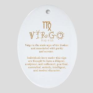 Virgo Ornament (Oval)
