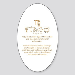Virgo Sticker (Oval)