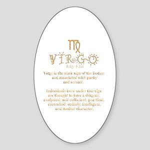 Virgo Sticker (Oval)