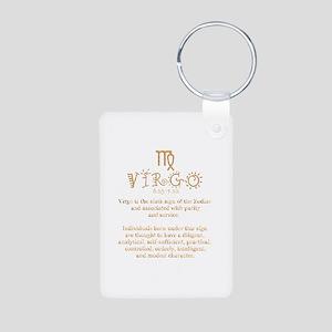 Virgo Aluminum Photo Keychain