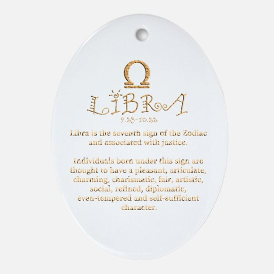 Libra Ornament (Oval)