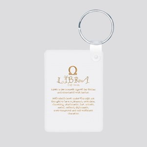 Libra Aluminum Photo Keychain