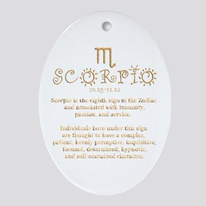 Scorpio Ornament (Oval)