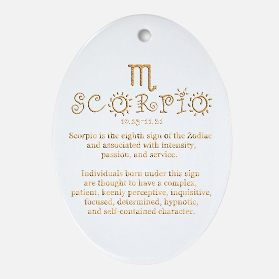 Scorpio Ornament (Oval)