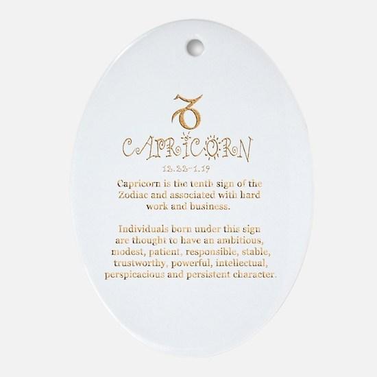 Capricorn Ornament (Oval)