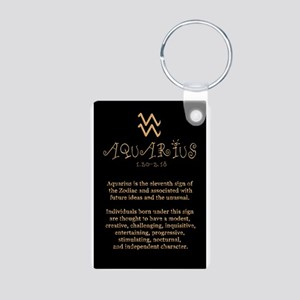 Aquarius Aluminum Photo Keychain