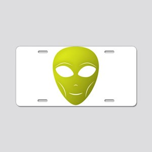 Happy Alien Aluminum License Plate