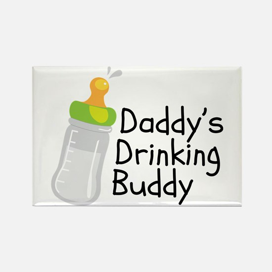 Daddy's Drinking Buddy Rectangle Magnet