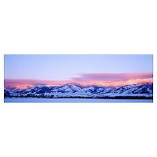 Montana, Bozeman, Bridger Mountains, sunset Poster