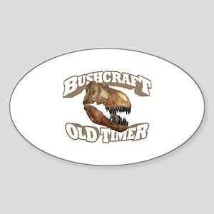 Bushcraft Old Timer Sticker (Oval)