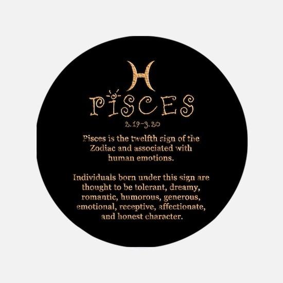 """Pisces 3.5"""" Button"""