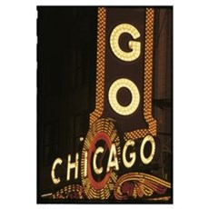 Chicago Neon Sign Poster