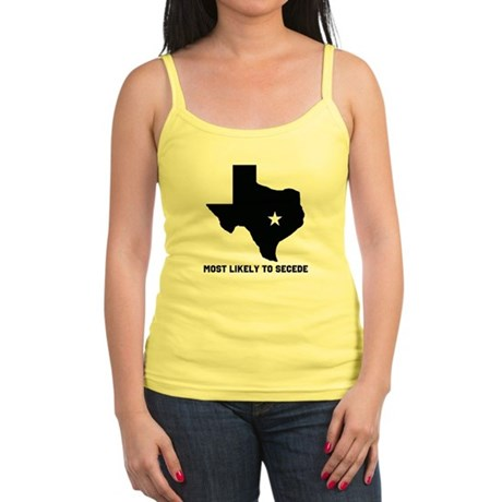 Most Likely To Secede (Black) Jr. Spaghetti Tank