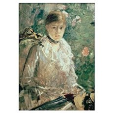Portrait of a Young Lady (oil on canvas) Poster