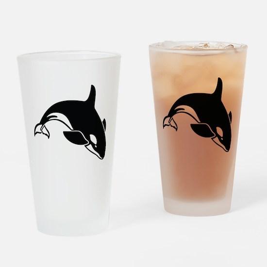 Killer Whale Drinking Glass