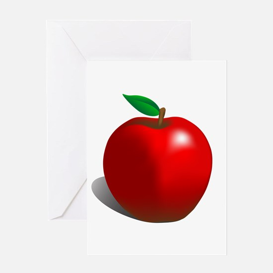 Red Apple Fruit Greeting Card