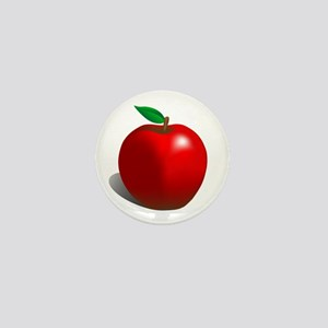 Red Apple Fruit Mini Button