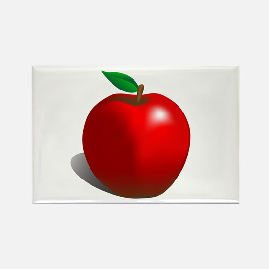 Red Apple Fruit Rectangle Magnet