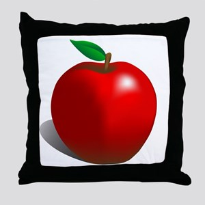 Red Apple Fruit Throw Pillow