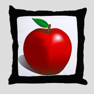 Red Apple Fruit Throw Pillow