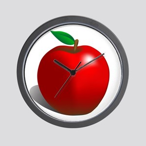 Red Apple Fruit Wall Clock