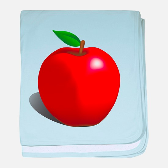 Red Apple Fruit baby blanket