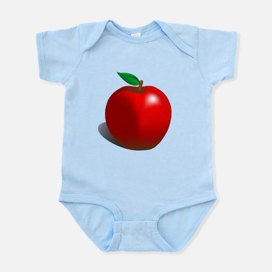 Red Apple Fruit Infant Bodysuit