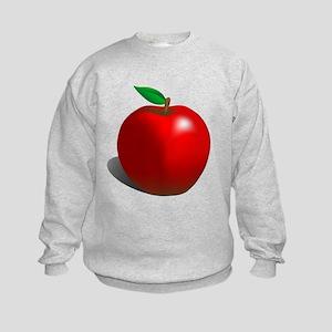 Red Apple Fruit Kids Sweatshirt