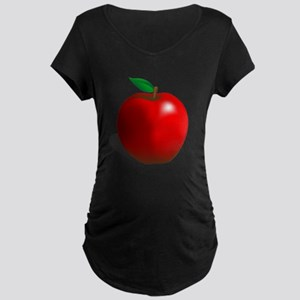 Red Apple Fruit Maternity Dark T-Shirt