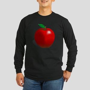 Red Apple Fruit Long Sleeve Dark T-Shirt